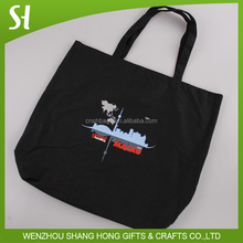 Promotional customized natural recycled cotton tote eco shopper bags