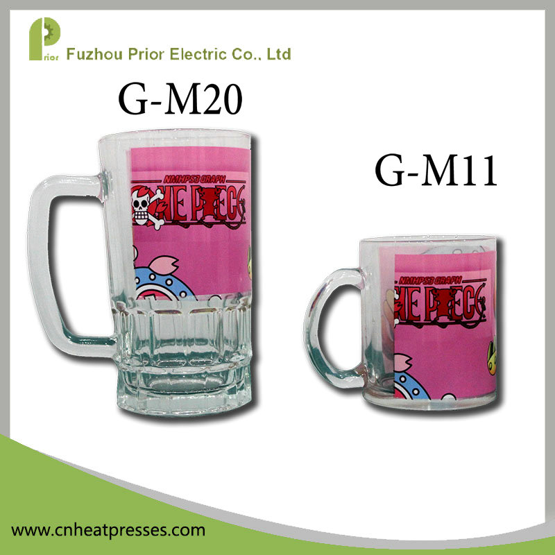 Prior 20oz Sublimation Coated Glass Beer Mug/Beer Glass/Beer Stein Blank For Mug Machine Printing