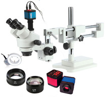 HDMI microscope trinocular microscope with camera led zoom portable