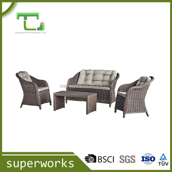 Professional OEM factory UV protect rattan sofa sets hot sale garden furniture outdoor