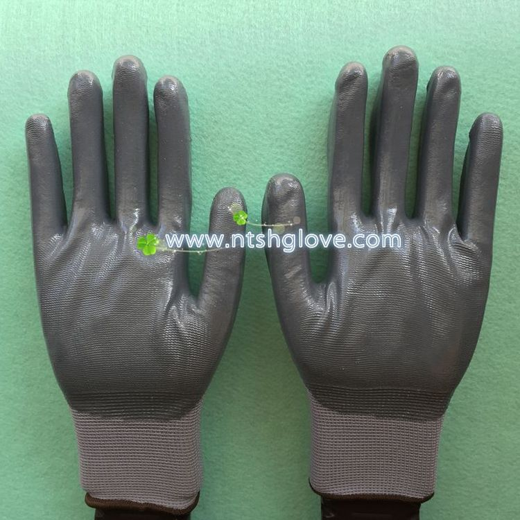 Newest Customed nitrile palm coated glove