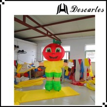 Hot sale fancy dress custom inflatable apple walking costume for events