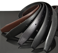 cheap genuine Wide coffee/black full grain leather belts