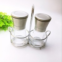 Brushed Stainless Steel Pepper Mill and Salt Mill