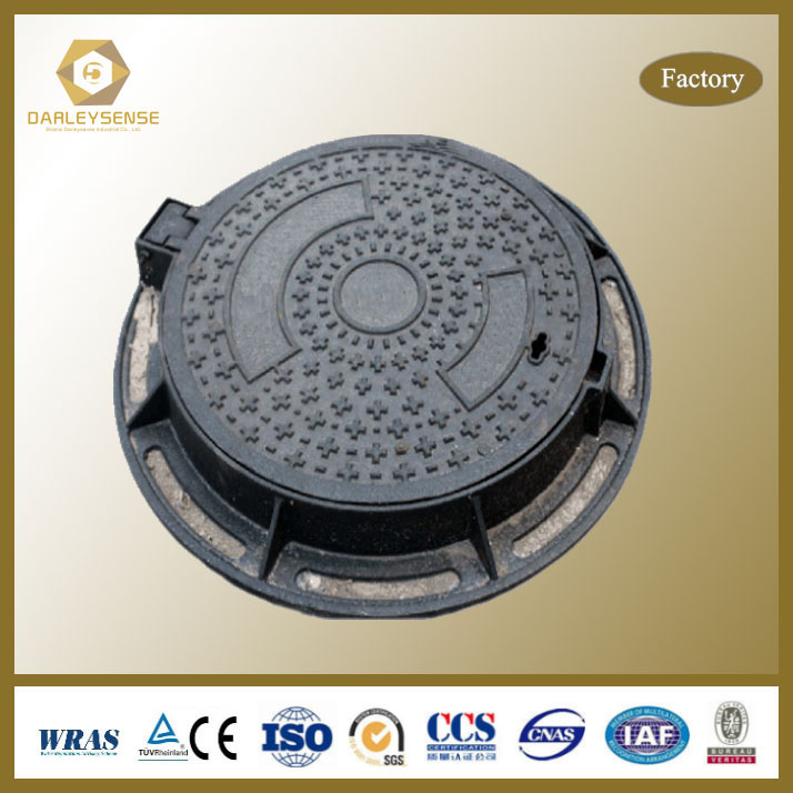 ISO90001 Certified iron casting manhole cover for garden With CE and ISO9001 Certificates