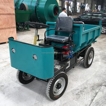 2t heavy loading four rear wheels electric motor tricycle,four wheeler cargo dumper for sale