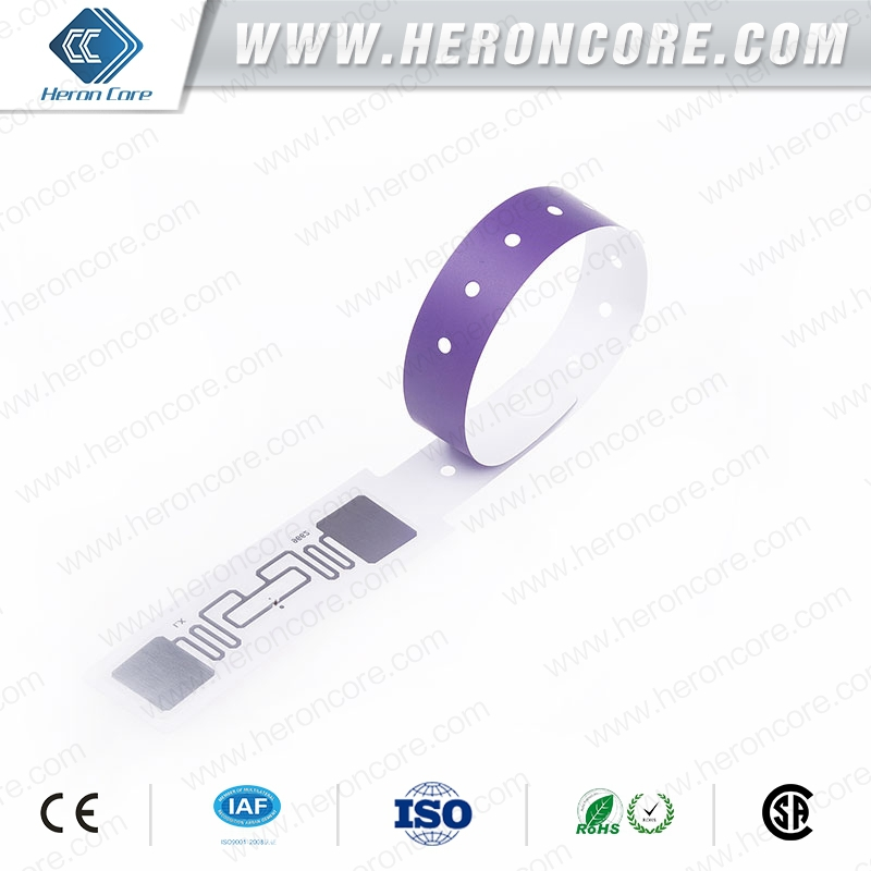 Active rfid wristband920MHz Disposable Paper Bracelet ,UHF RFID Wristbands for Patient Identification rifd pertamina