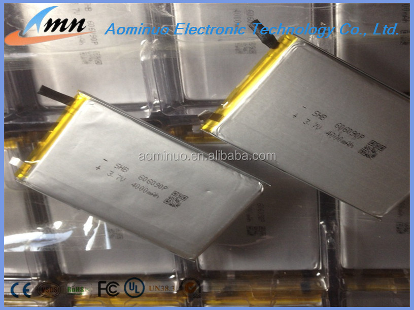 cheapest 3.7V 4000Mah 606090 lithium polymer recharge battery lithium ion deep cycle battery