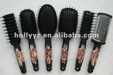 Hot Sale New Design Wooden Double Round Folding Comb Hairbrush