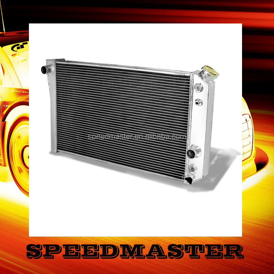 Aluminum car radiator for M ustang fan motor 12V