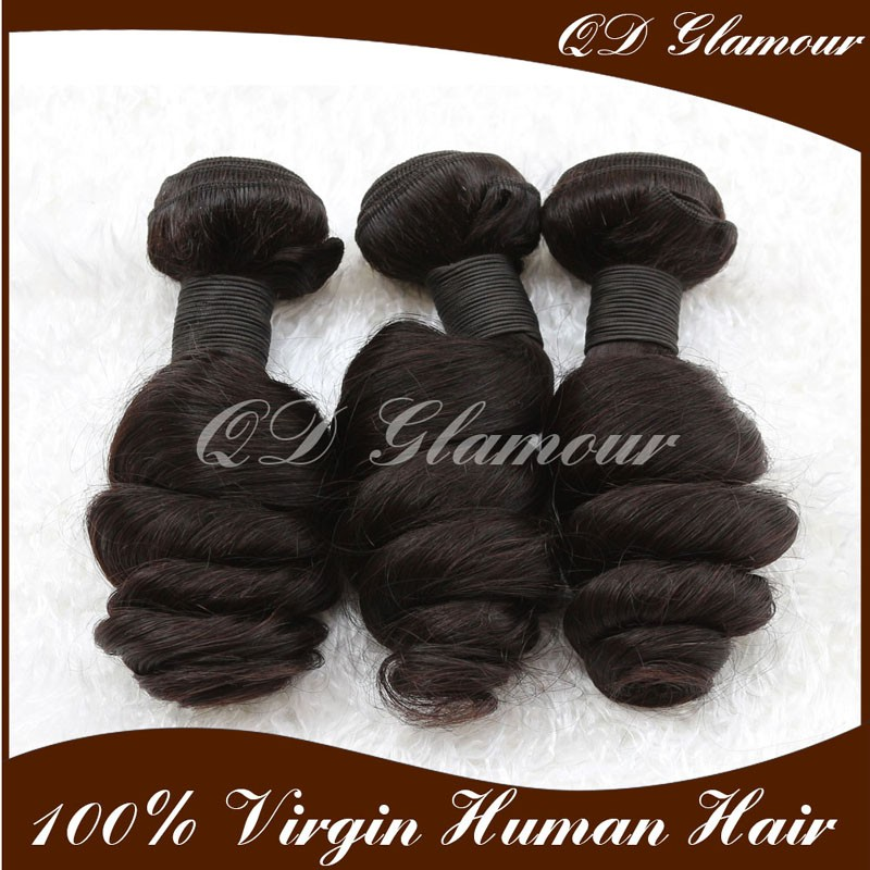Factory Wholesale Unprocessed Human Hair Weave Loose Wave Malaysian Hair Bundles