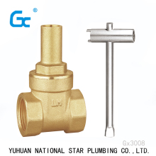 "Brass 1/2""-2"" forged handwheel lockable female gate valve with price"