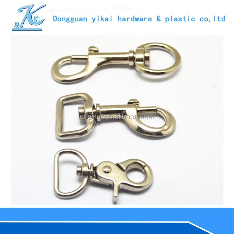 small metal hook with zinc alloy material,Silver swivel lobster claw/lanyard clips.