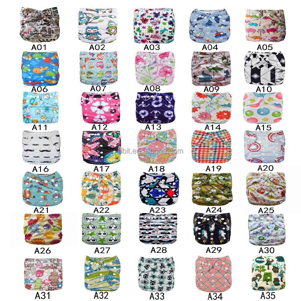 LilBit Digital Print Reusable Pocket Baby Cloth Diaper Cover