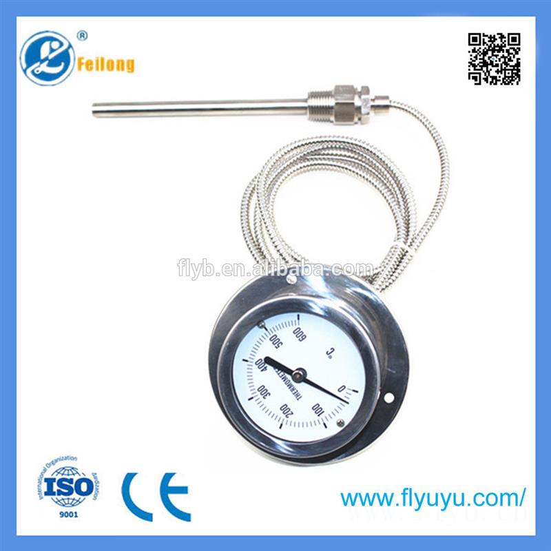 Plastic temperature thermometer gas filled capillary thermometer