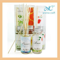 2014 hot selling home air freshener and decorative fragrance oil reed diffuser bottles