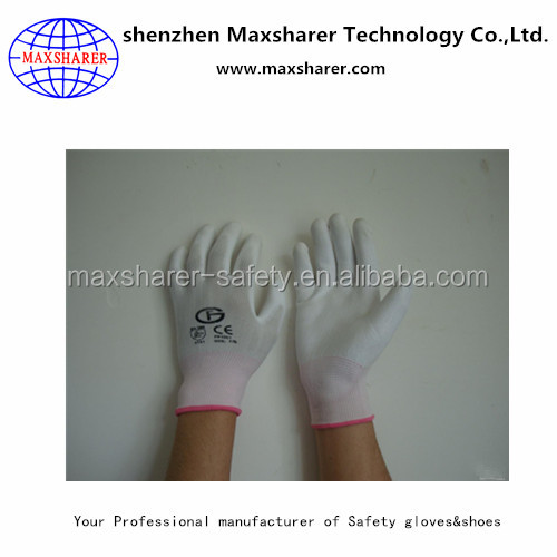 Maxsharer C0501 Anti static High quality polyester fabric gloves for cleanroom woring