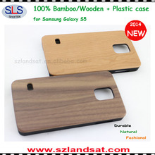 2014 New and Hot Sale Plastic with wooden back case cover for samsung s5 galaxy BCS09C