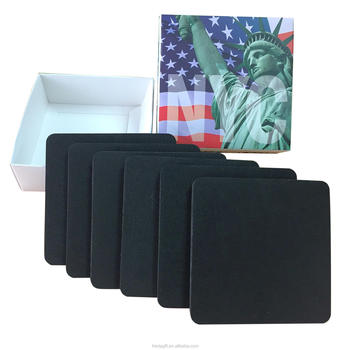 10*10*0.4cm EVA coasters promotions of box packaging