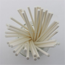 White customized paper lollipop sticks