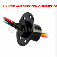 OD 22mm 5 conductors electrical contacts slip ring slip ring rotary joint electrical connector