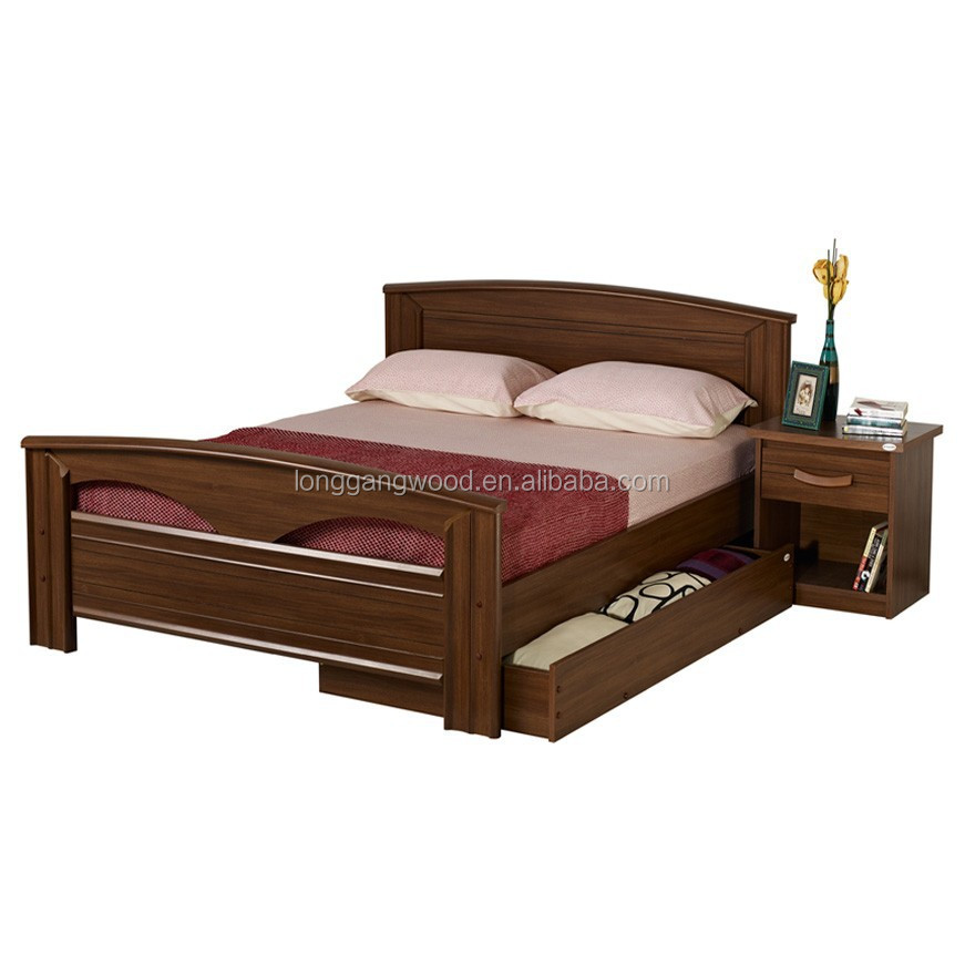 facotry price antique double wood bed