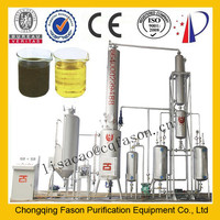 High Efficient Used engine oil recycling machine (Change black to yellow)