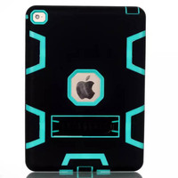 2015 new arrival heavy duty 3 in 1 pc tpu hybrid case for ipad air 2 with stand