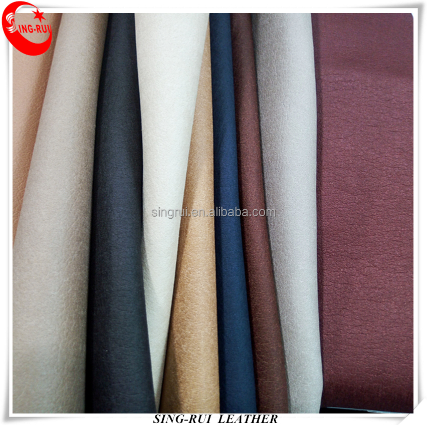 Pigskin leather fabric with Microfiber Backing