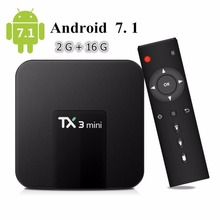 TX3 Mini Android 7.1 google TV BOX 2GB/16GB 4K TV Amlogic S905W Quad core H.265 Decoding 2.4GHz WiFi TV BOX