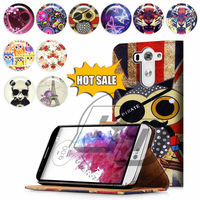For LG G3 Mini High Quality Print Card Holder Flip PU Folio Wallet Leather Case Cover Moible Phone Csae
