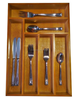 factory sale FSC&SA8000 bamboo wooden cutlery Dividers tray for Silverware, Utensils, or Gadgets