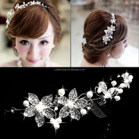 Women Girl Bride Boho Flower Headband Festival Wedding Floral Garland Hair Band Headwear accessories wholesale head ornaments