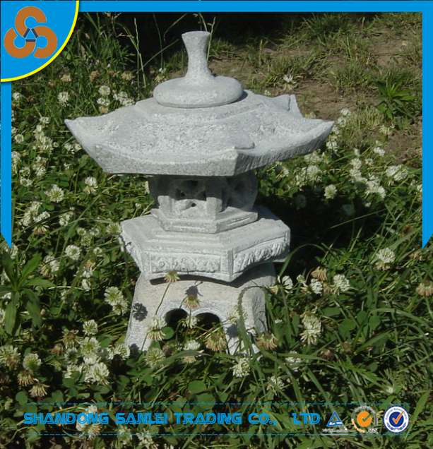 garden decoration carved patio furniture granite stone japanese lantern