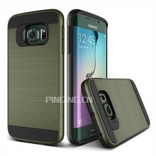 2 in 1 pc + tpu brushed armor case for zte prestige n9132 back cover