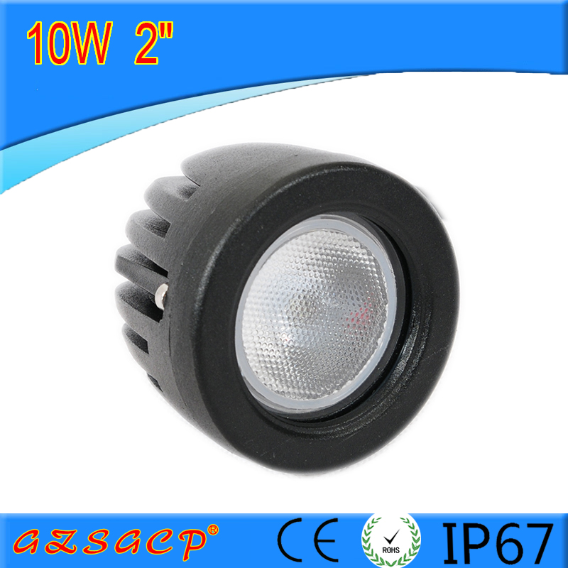 wholesale price 2'' round and 2.5'' square 10w led working light for led driving