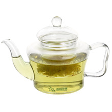 wholesales custom reusable borosilicate glass teapot infuser combined teapot cup