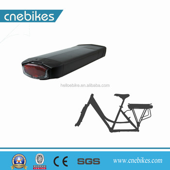 Easy assemble rear rack battery 36v with power display button for electric bicycle ebike