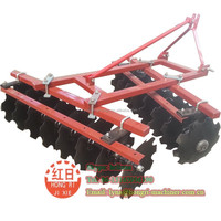 Small four wheel tractor mounted farm machine disc harrow