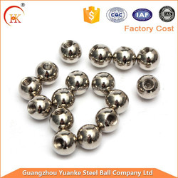 SGS qualified 12.7mm hot sale Free sample with M3 hole stainless steel ball