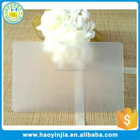 Bulk 0.3mm Frosted Blank Transparent Card