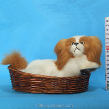 folk real furry artificial fur simulation handcrafts decoration dogs fine toy