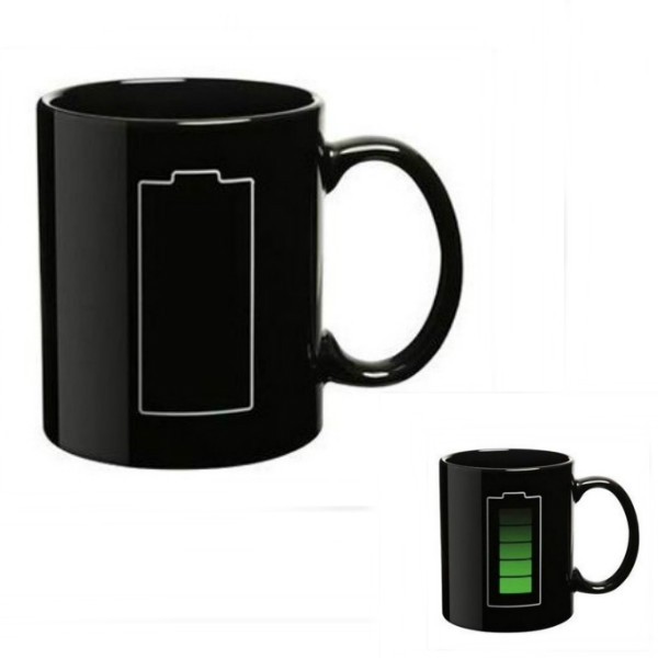 China Factory selling Home & Garden Drinkware Magic Moustache Color Changing Porcelain Coffee Mug