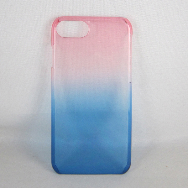 Wholesale customized phone case, Gradient color PC Bottom phone cover for iPhone 7