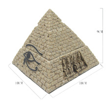 Egypt Style sand yellow Sandstone pyramid for home aquariums decoration ornament 12010-3