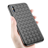 Hot selling Woven Weave Pattern Soft TPU Mobile Phone Case for Apple iPhone X Knit TPU Cover