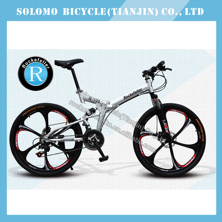 New Rockefeller Damping With Folding Mountain Bicycle 21 Speed