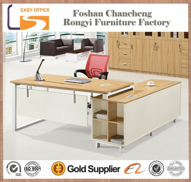 Low price MDF panel modern type melamine executive office desk