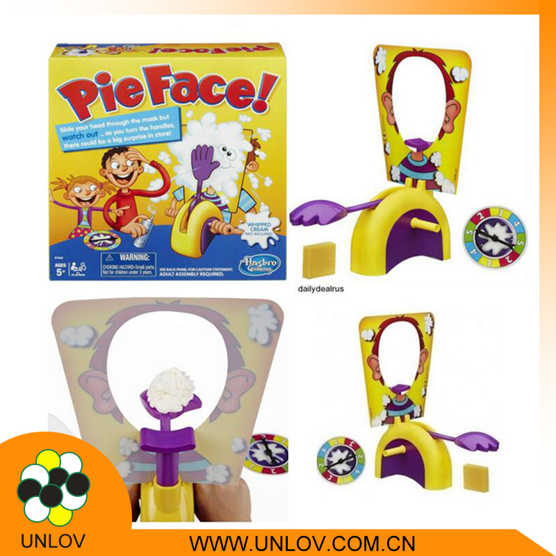New free sample custom cheap toy from china hasbro pie face showdown game