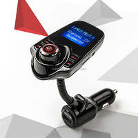 T10 New Arrival Hands-free Car Bluetooth RDS FM Transmitter with MP3 Player